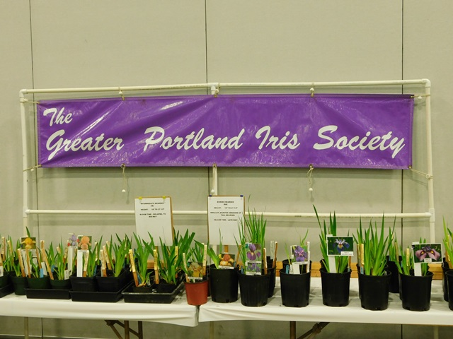 Greater Portland Iris Society's banner.